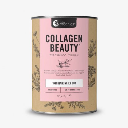 Collagen Beauty with Verisol Skin Hair Nails Gut Nutra Organics 450